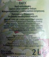 Napój wieloowocowy Exotic - Składniki - pl