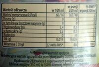 Napój wieloowocowy Exotic - Nutrition facts - pl
