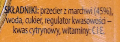 Sok z marchwi - Składniki