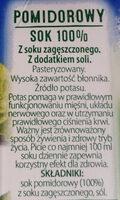 Sok pomidorowy z dodatkiem soli - Składniki - pl