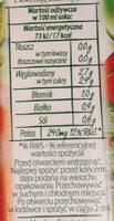 Sok pomidorowy z dodatkiem soli - Wartości odżywcze - pl