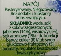 Napój Jabłkowo - wiśniowy - Składniki - pl