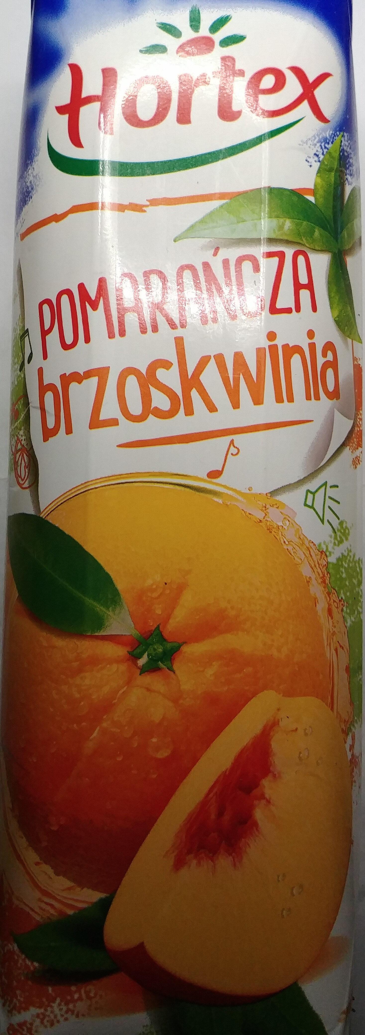 Napój pomarańczowo-brzoskwiniowy - Produkt - pl