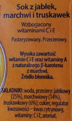 Sok z jabłek, marchwi i truskawek - Składniki - pl