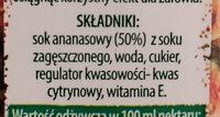 Ananas nektar - Składniki - pl