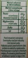 Nektar z pomarańczy i grejpfruta - Wartości odżywcze
