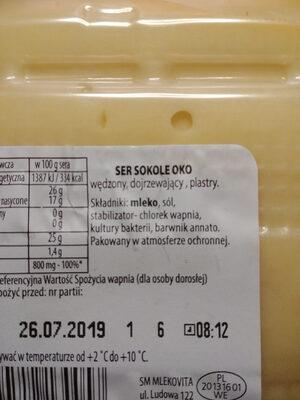 Sokole oko - ser w plastrach - Ingrediënten - pl
