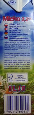 Mleko UHT 3,2 % - Ingrediënten - pl