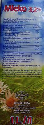 Mleko UHT 3,2 % - Voedingswaarden - pl