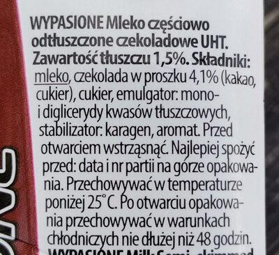 mleko czekoladowe - Ingredients - pl