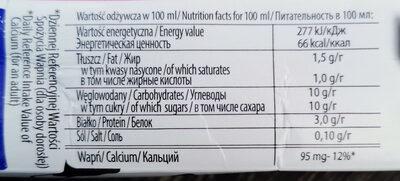 mleko czekoladowe - Nutrition facts - pl