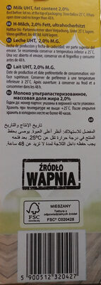 Mleko UHT 2% - Ingrédients - pl