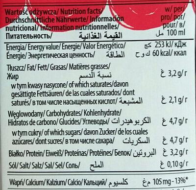 Mleko UHT 3,2% - Nutrition facts - pl