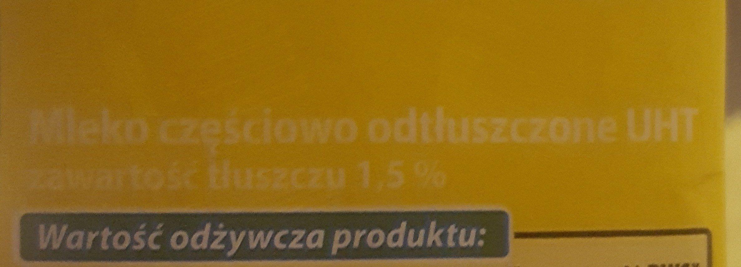 Mleko 1,5% - Ingrédients - fr