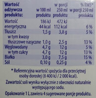 Mleko 1,5% - Nutrition facts