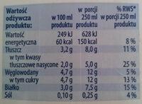 mleko UHT 3,2% - Nährwertangaben