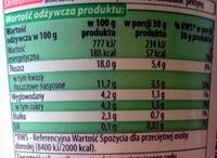 Mleczna Dolina Śmietana 18% - Wartości odżywcze
