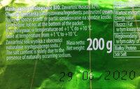 Masło ekstraekologiczne BIO - Składniki - pl