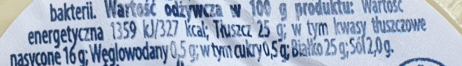 Ser Kaszkwał - Informations nutritionnelles - pl