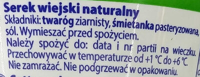 Serek wiejski naturalny - Składniki - pl