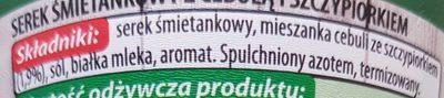 Serek śmietankowy z cebulą i szczypiorkiem - Składniki