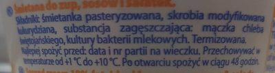 Smietanka Do Zupy (18%) - Składniki
