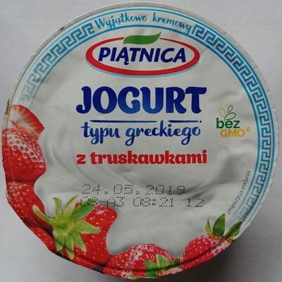 Jogurt typu greckiego z truskawkami 2,4% tłuszczu - Produkt - pl