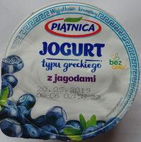 Jogurt typu greckiego z jagodami 2,4% tłuszczu - Produkt - pl