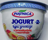 Jogurt typu greckiego z brzoskwinią i marakują 2,4% tłuszczu - Produkt - pl