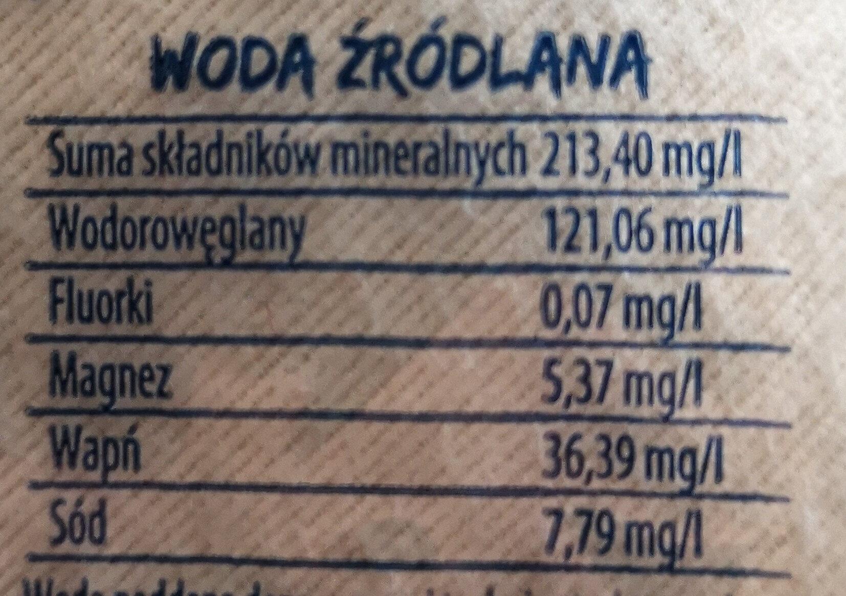 Woda źródlana Żywiec Zdrój niegazowany - Wartości odżywcze - pl