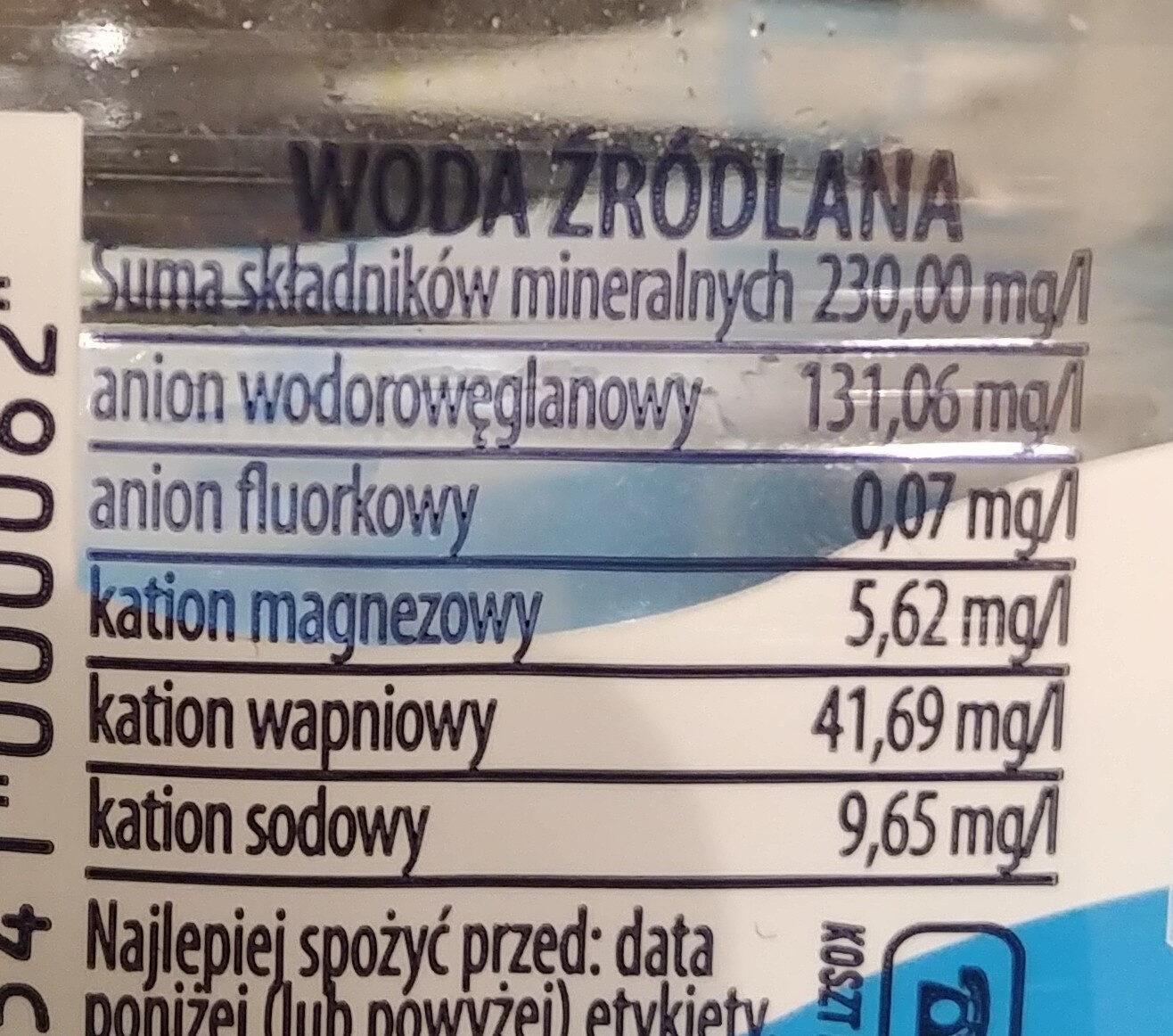 Żywiec Zdrój - Ingrediënten - pl