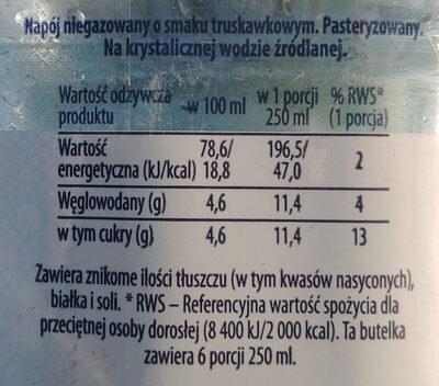 Żywiec Zdrój z nutą truskawki - Wartości odżywcze