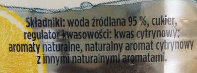 Zywiec Zdrój Lemon Flavoured Still Water - Składniki - pl