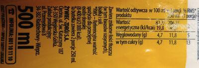 Żywiec Zdrój z Nutą.Napój niegazowany o smaku brzoskwiniowym - Nutrition facts - pl