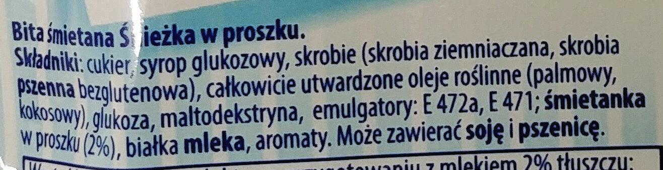 Bita śmietana - Ingredients