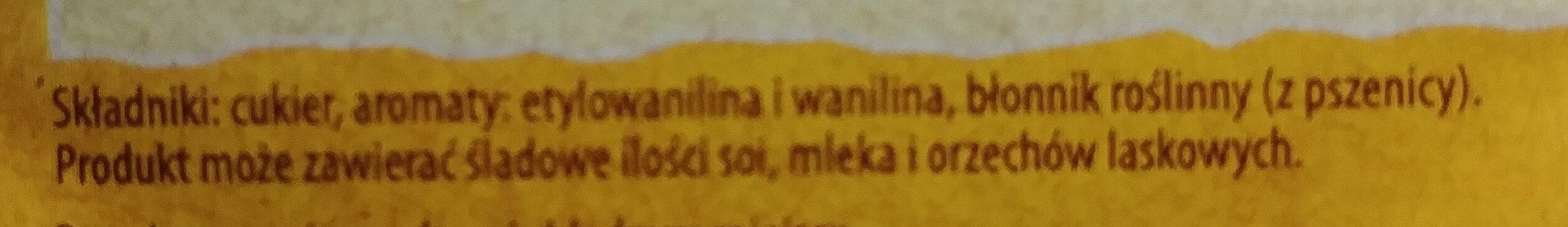 Cukier waniliowy - Ingrédients - pl