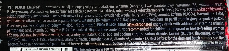 Black energy - Składniki - pl