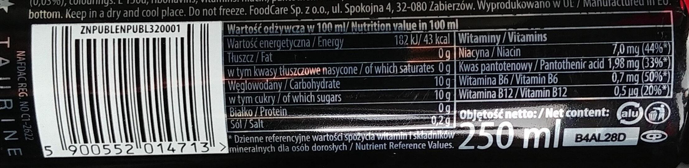 Black energy - Wartości odżywcze - pl