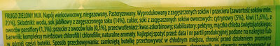 Napój wieloowocowy - Zielony mix - Ingredients - pl