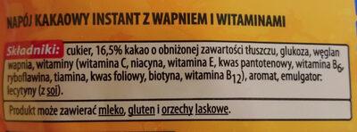 Napój kakaowy instant z wapniem i witaminami - Ingredients - pl
