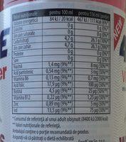 4move Vitamin water cherry - Wartości odżywcze