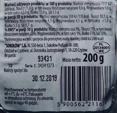 Pasztet z boczkiem - Wartości odżywcze - pl