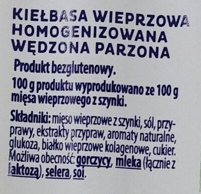 Parówki z szynki - Ingrédients - pl
