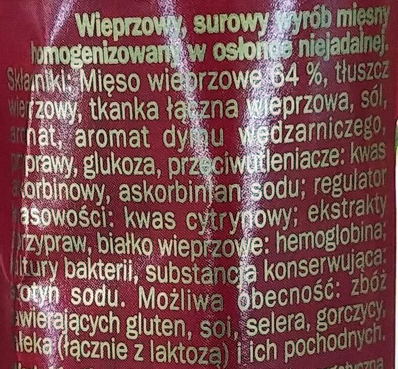 metka łososiowa - Ingredients - pl