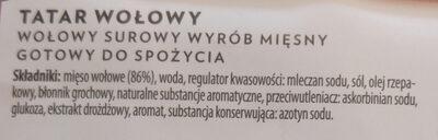 Tatar wołowina - Składniki - pl