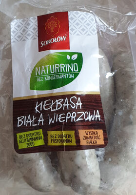 Kiełbasa biała wieprzowa Naturrino - Product - en