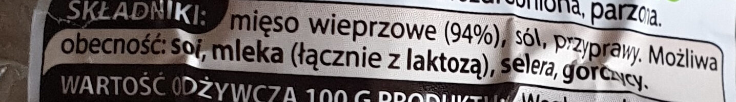 Kiełbasa biała wieprzowa Naturrino - Ingrédients - pl