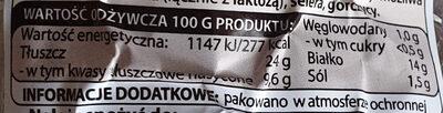 Kiełbasa biała wieprzowa Naturrino - Informations nutritionnelles - pl