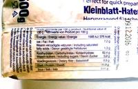 Havermout - Ingrediënten