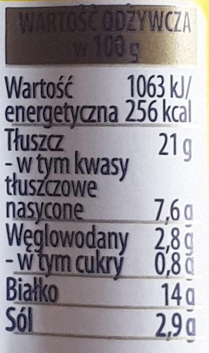 Berlinki z serem - Nutrition facts - pl